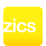 Logo Agência ZICS [vertical branco]